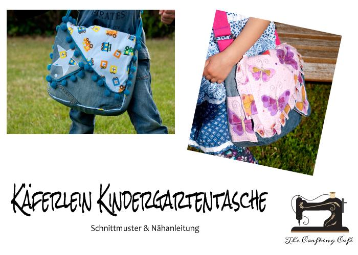 Neues ebook: Käferlein Kindergartentasche Schnittmuster * The ...