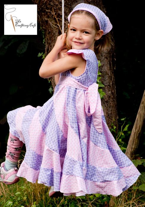 drehkleid nähen peppermint swirl dress