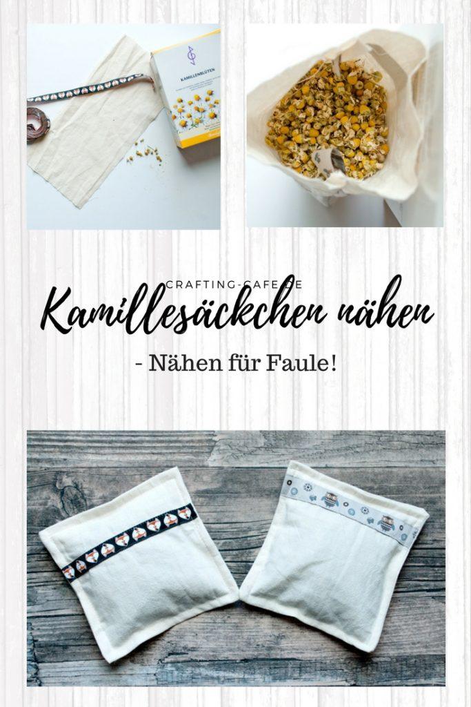 """Kamillesäckchen nähen - nach der """"nähen für Faule""""-Methode. Dieses Kräutersäckchen könnte auch als Körnerkissen verwendet werden. Wie es genäht wird, zeige ich auf meinem Blog."""