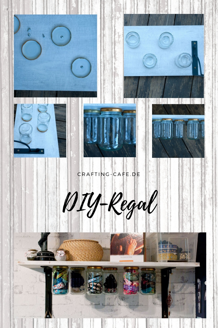 diy regal upcycling pin the crafting caf. Black Bedroom Furniture Sets. Home Design Ideas