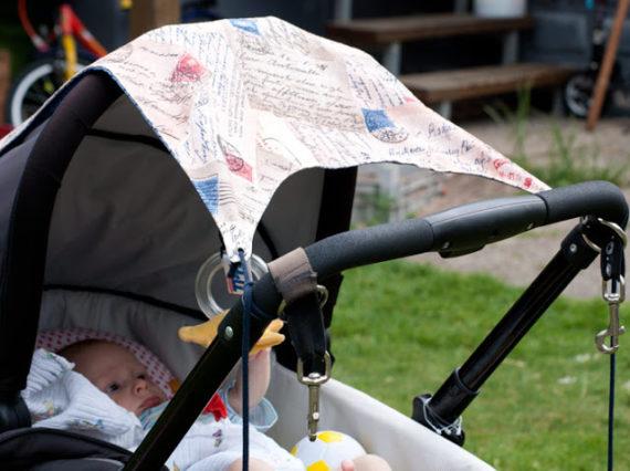 Sonnensegel und Aufhängung Kinderwagen (Freebook)