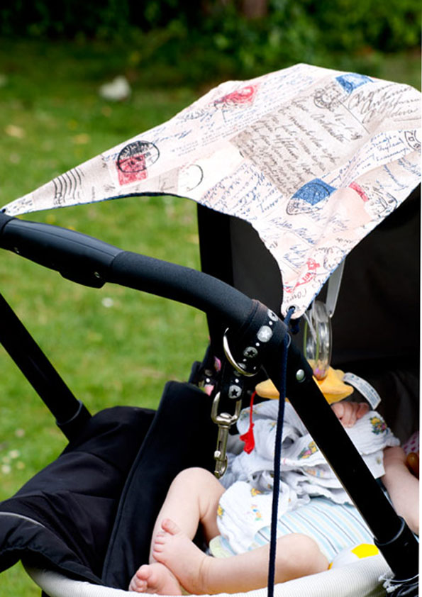 anleitung sonnensegel nähen für kinderwagen