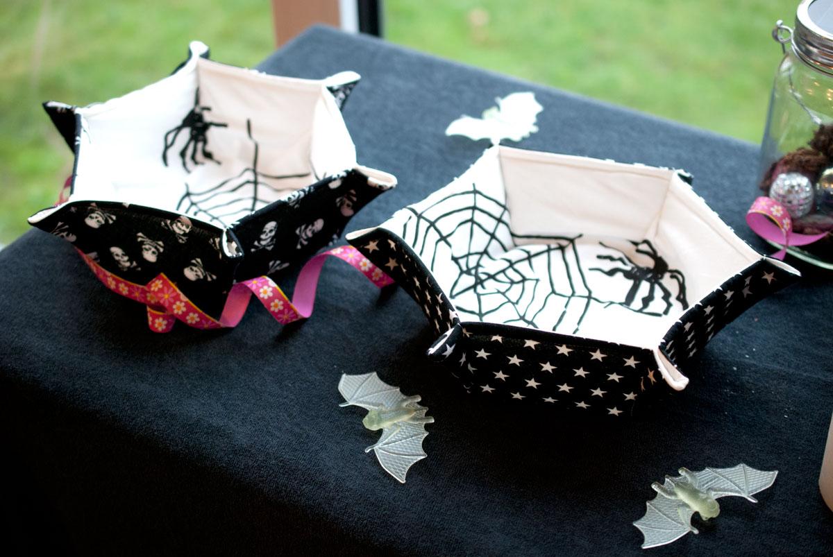 halloween deko nähen sternkörbchen