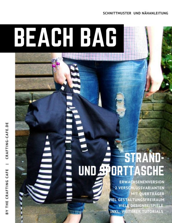 Beach Bag groß ~ Crossbody Strandtasche