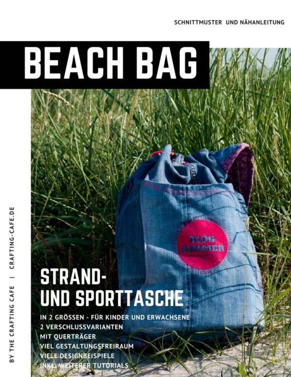 {ebook} Beach Bag ~ Schnittmuster und Nähanleitung ~ beide Größen