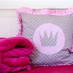 Prinzessinnenkissen - Kissen mit Rüsche nähen