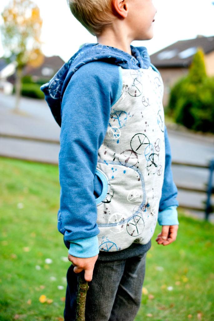 Long Sweatshirt Schnittmuster Hoodie für Jungs nähen