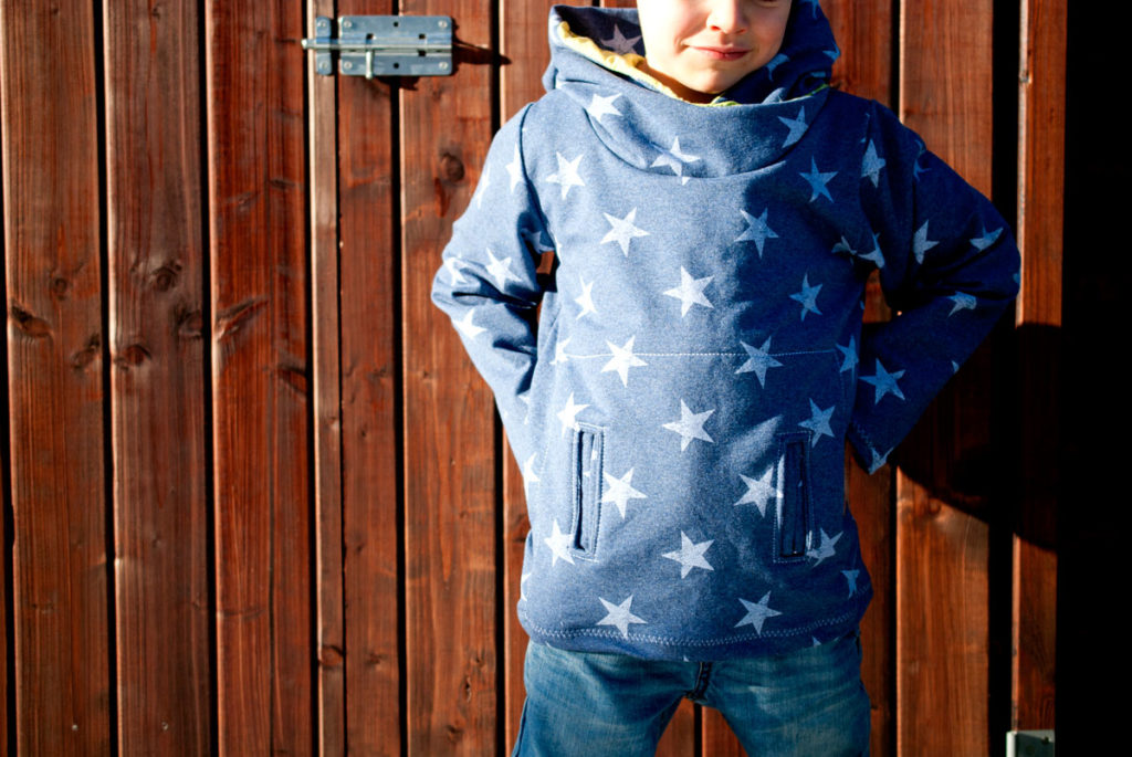 freeboook hoodie schnittmuster kind