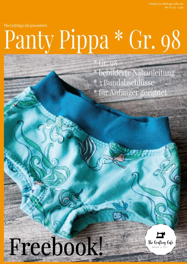 * Pippa Gr. 98 * Freebook: Schnittmuster Unterhose für Mädchen