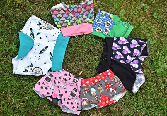 * Pippa Gr. 98-158 * ebook: Schnittmuster Unterhose für Mädchen