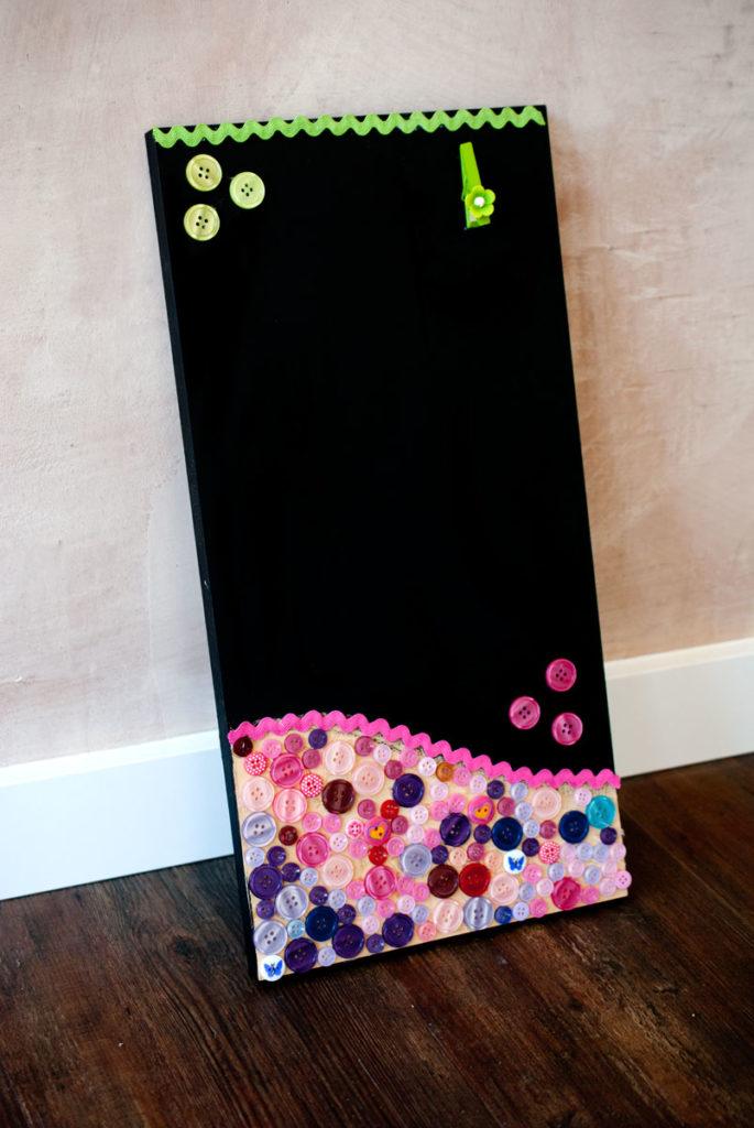 memoboard mit tafelfarbe selber machen