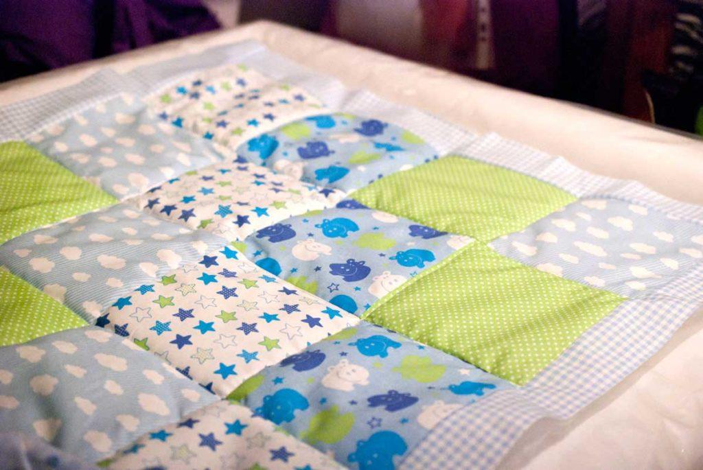 patchworkdecke fürs Baby nähen einfache anleitung