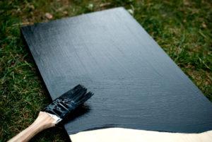 DIY memoboard mit Tafelfarbe selber machen