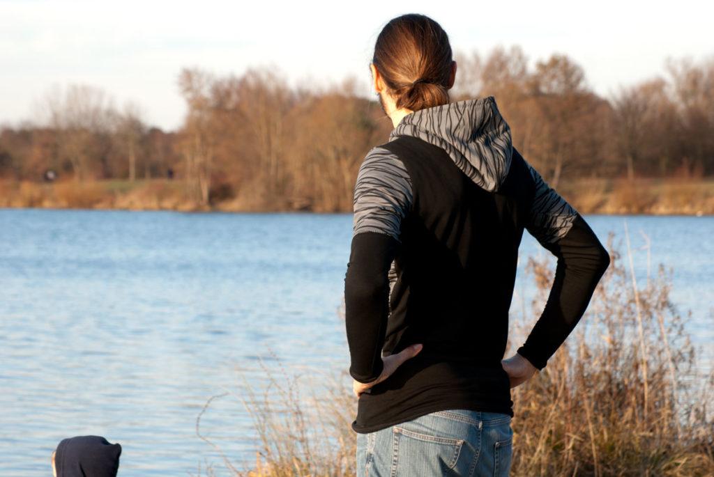 hoodie schnittmuster nähen für männer