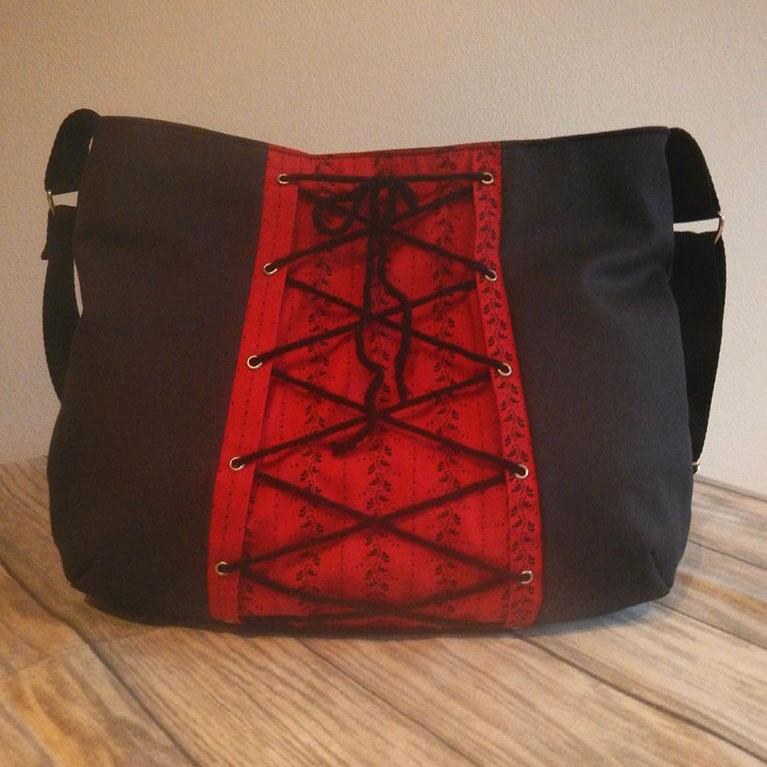 Schnittmuster Handtasche mit Schnürung