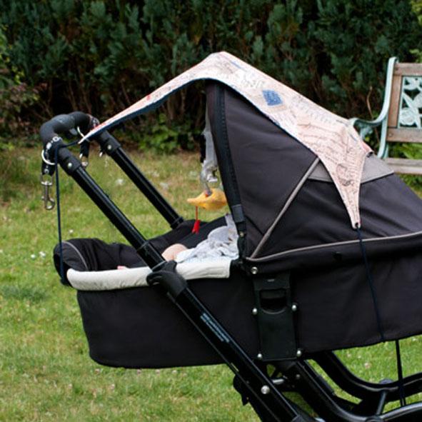 sonnensegel für kinderwagen selber nähen anleitung