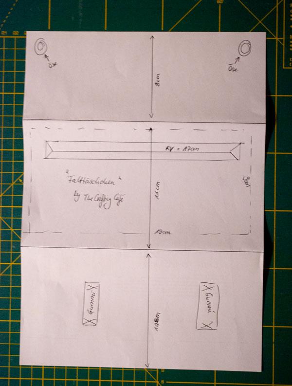 Schnittmuster einfache Tasche selber erstellen