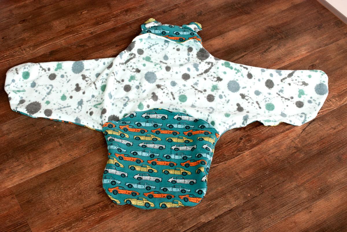 einschlagdecke für babyschale selber nähen