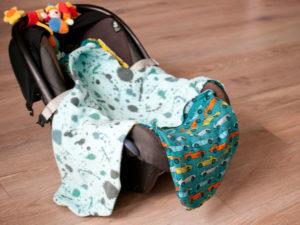 einschlagdecke für babyschale nähen schnittmuster kostenlos