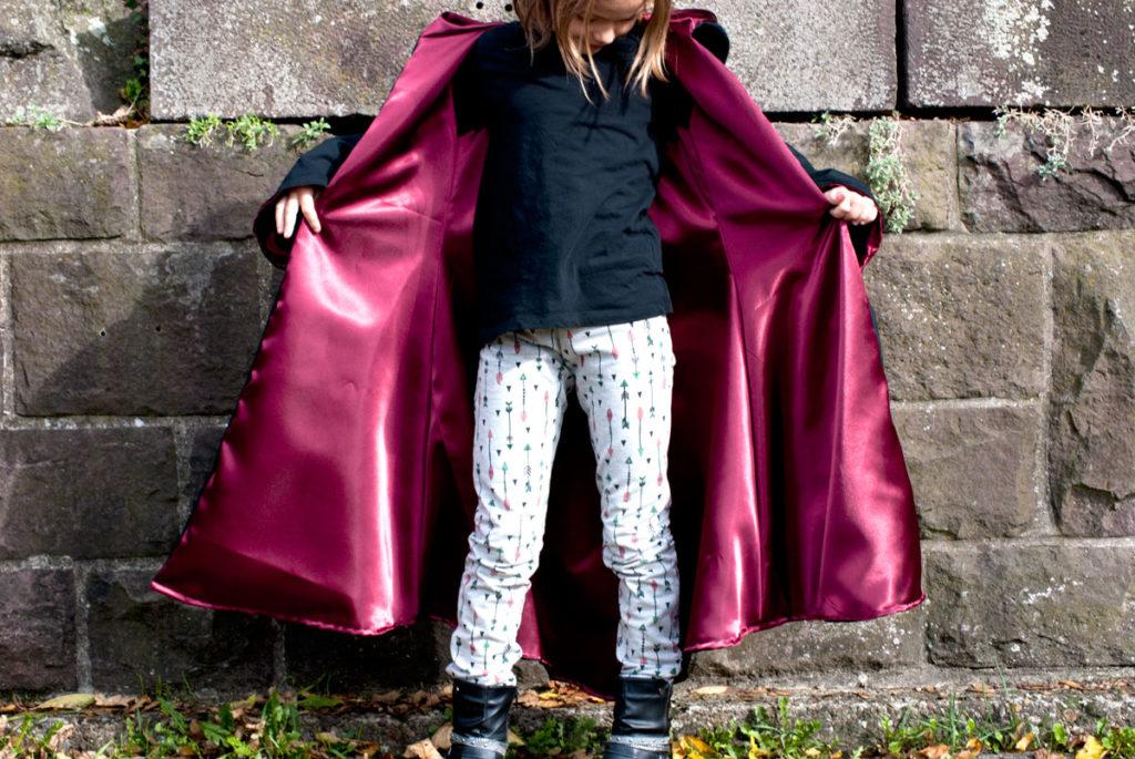 zauberermantel kostüm nähen für kinder