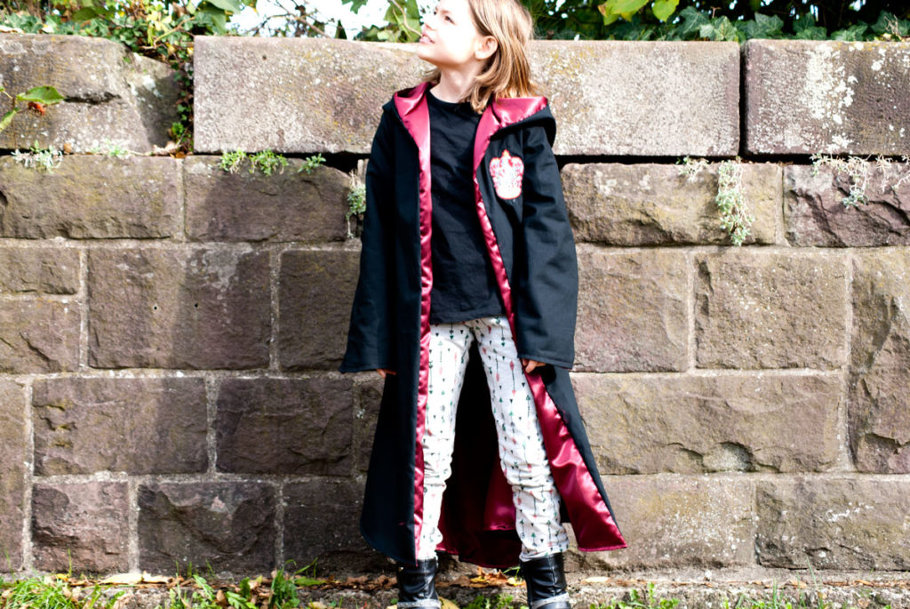zauberermantel nähen für kind