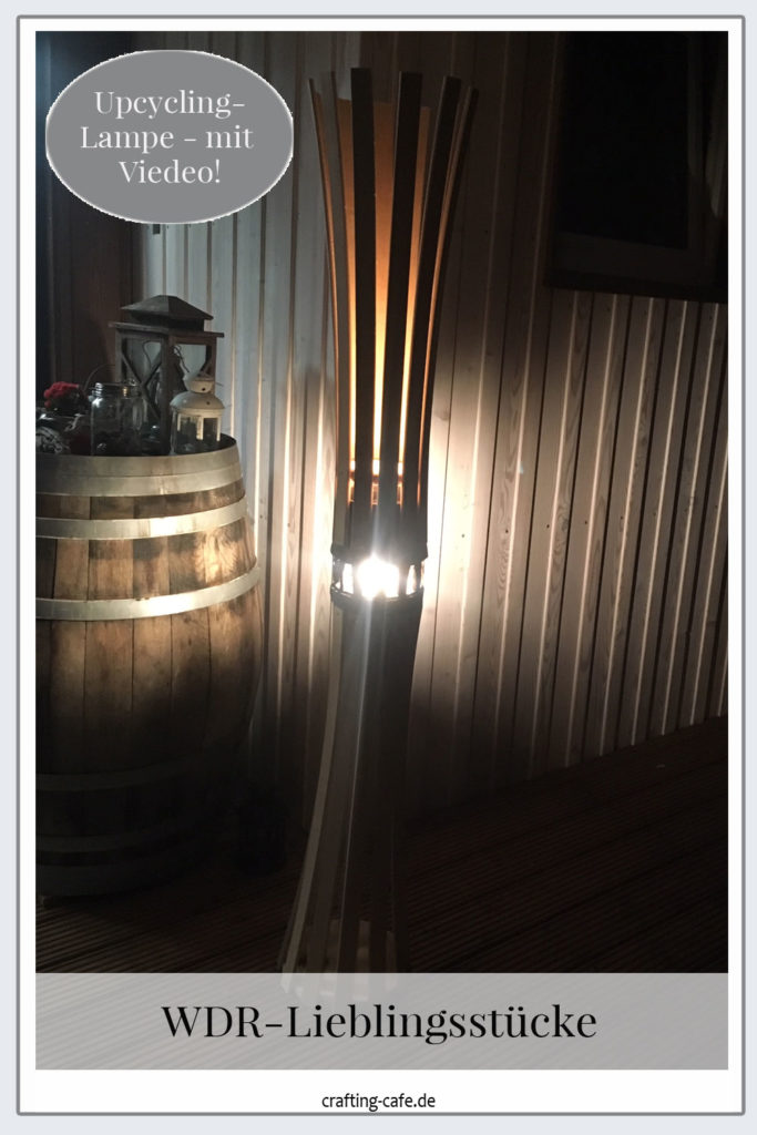 Upcycling Lampe aus Lattenrost