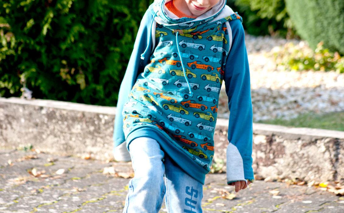 kapuzenpullover für kinder nähen