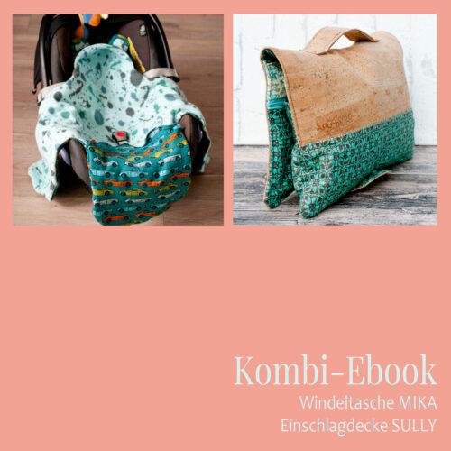 Kombi-Ebook Windeltasche Einschlagdecke fürs Baby nähen
