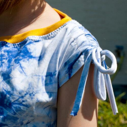 shirt mit bändern in der schulter nähen