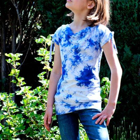 shirt mit Wasserfallausschnitt nähen