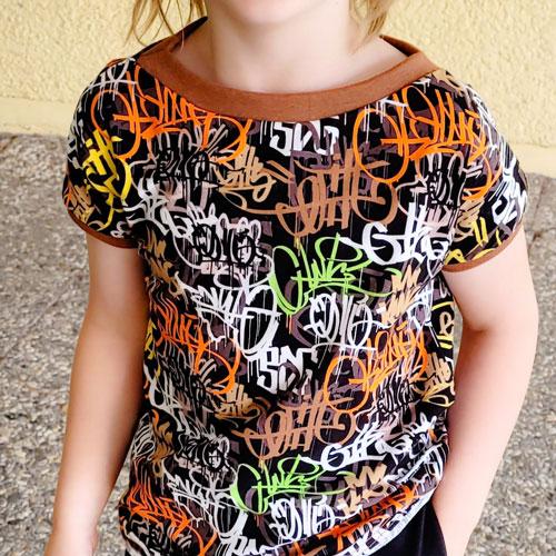 shirt für jungs nähen graffiti comic